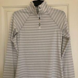Eddie Bauer striped quarter zip sweatshirt